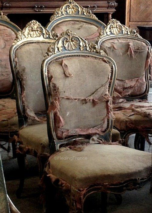 Chairs Lugares Abandonados Pinterest Abandonne Brocante Et