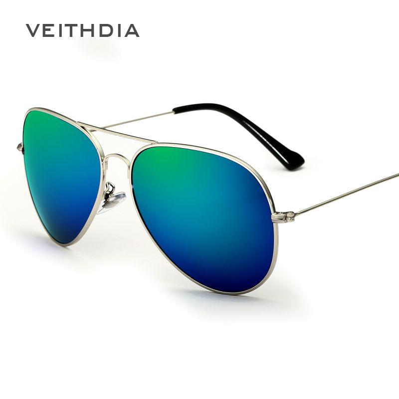 81159a1eff VEITHDIA Classic Fashion Polarized Sunglasses Men Women Colorful Reflective  Coating Lens Eyewear Sun Glasses 3026