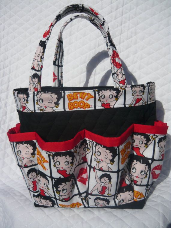 Betty Boop 8 Pockets Bingo Bag Great For Craft And Make Up Organizer
