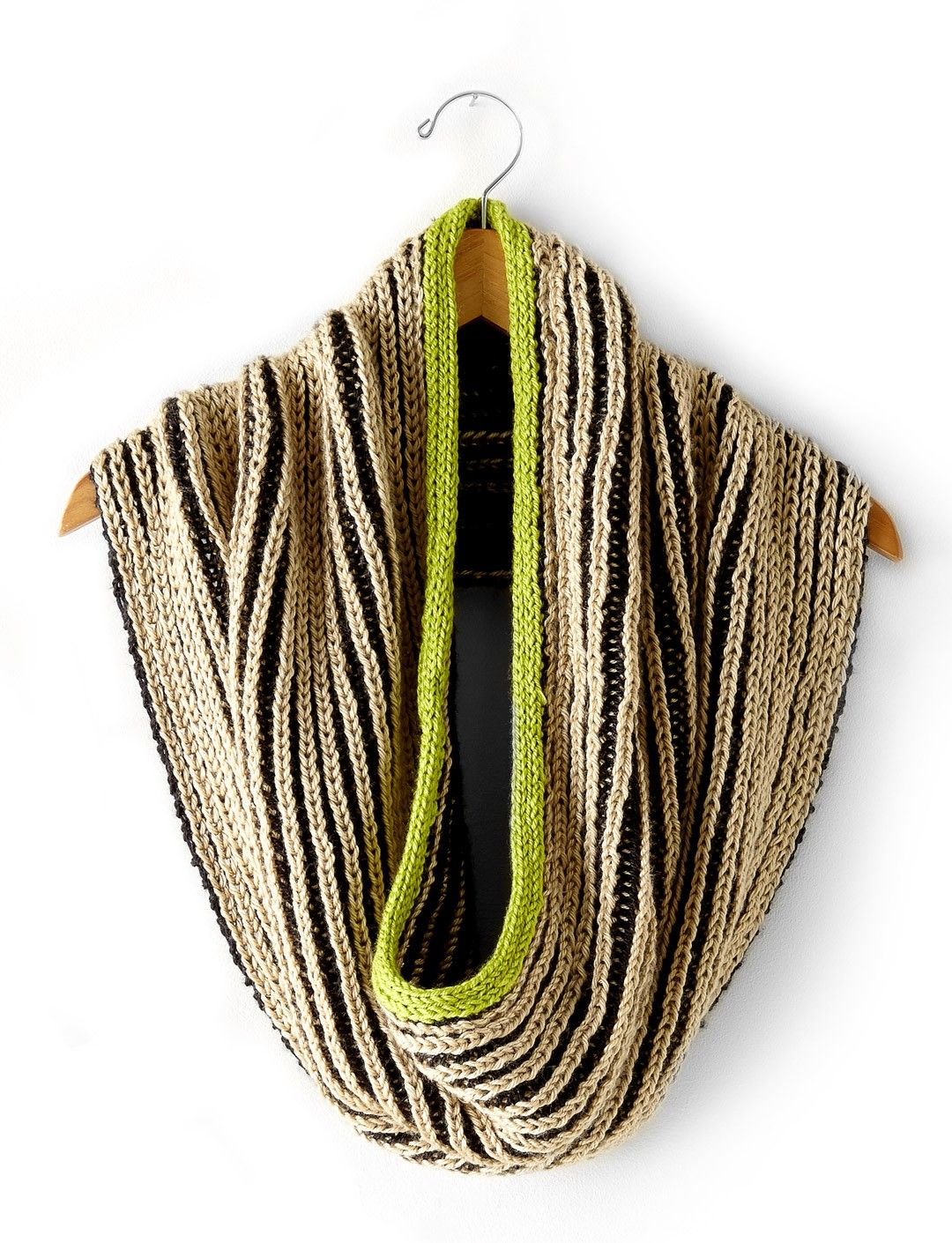 The Shadow Cowl features a contrasted, reversible fabric. Knit using ...