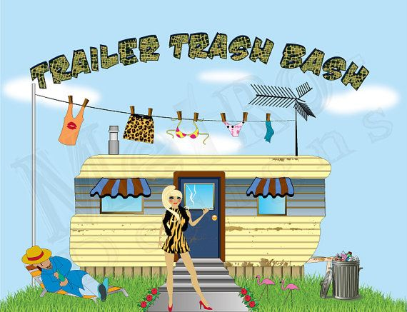 Trailer Trash Bash Party Package Digital File by MetroEvents – Trailer Trash Party Invitations