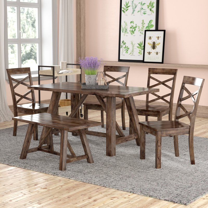 Bailee 6 piece dining set solid wood dining set dining