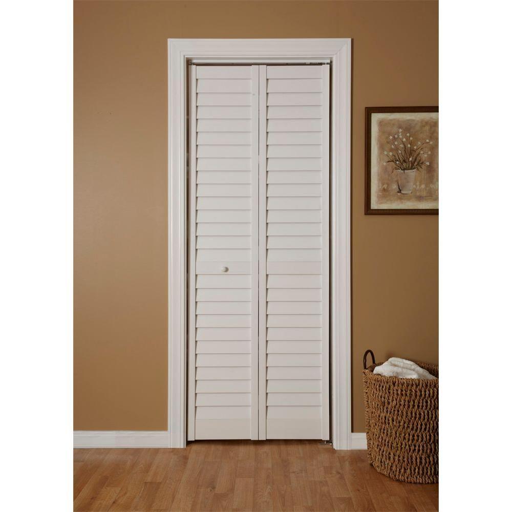 White Louvered Sliding Closet Doors | Dandk Organizer