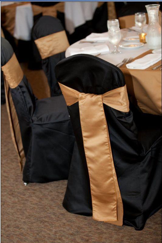 Sensational Black Crown Back Chair Covers Gold Sashes Dwwb Gold Spiritservingveterans Wood Chair Design Ideas Spiritservingveteransorg