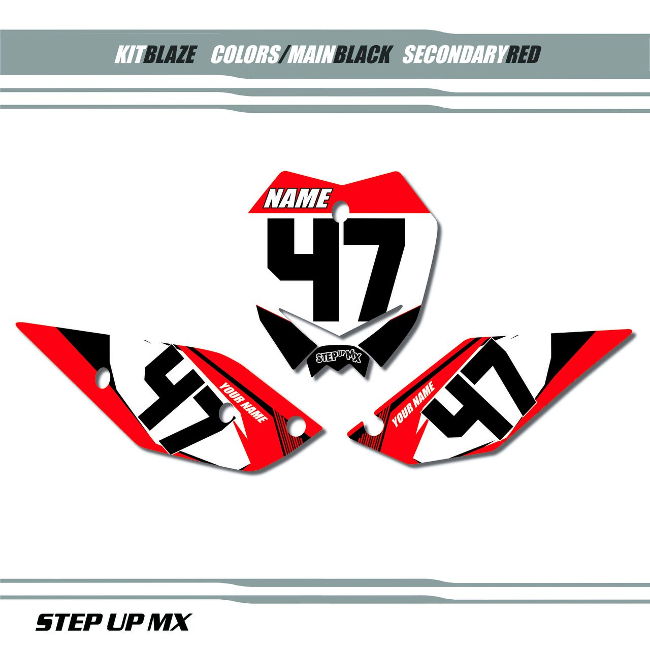 Blaze Number Plate Decals Number Plate Industry Logo Decals