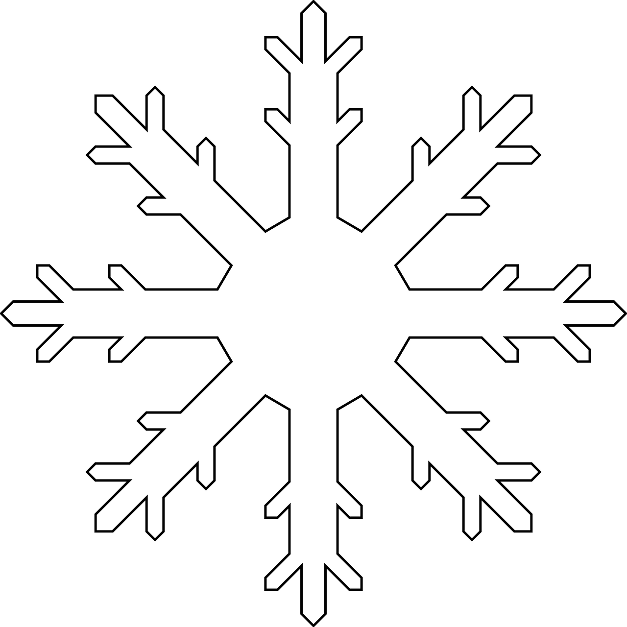 snowflake colouring pages pinterest snowflake template template