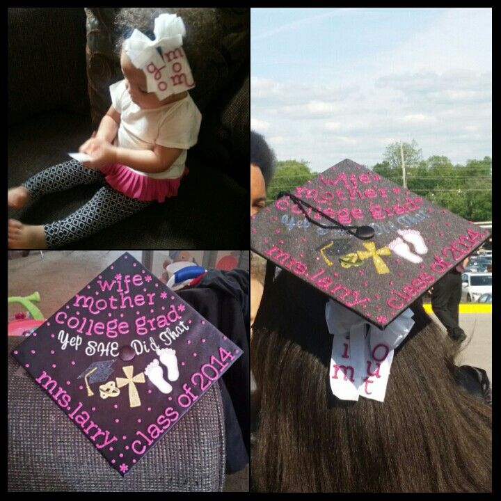 Decorated Graduation Cap And Matching Mother Daughter Bows Easy And