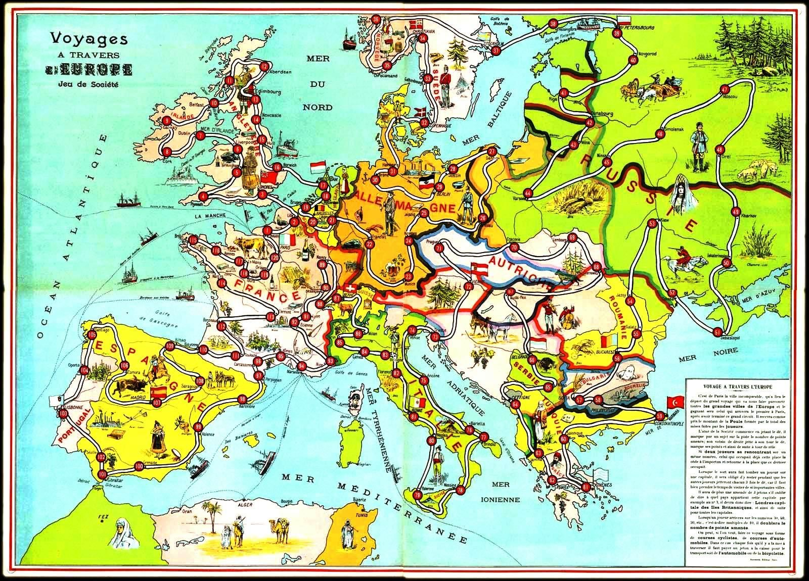 GeopoliticalPoliticalMapEuropeFrenchmapwithculturallabels - French map of europe