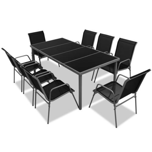 9 Tlg Gartenmobel Set Essgruppe Sitzgruppe Sitzgarnitur Tisch Stuhl