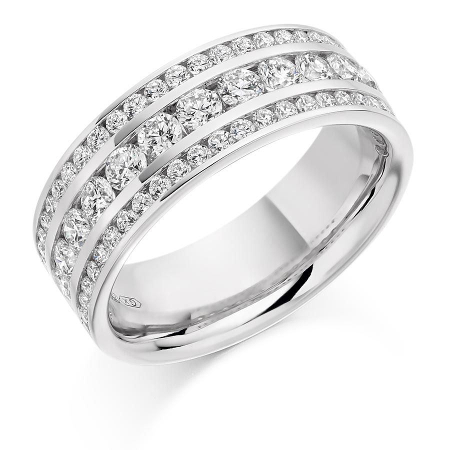 Round Brilliant Channel Set HET2180 - http://www.voltairediamonds.ie/product/wedding-eternity-rings/channel-set-ring-het2180/  #diamondring #eternityring #roundbrilliant #engagementrings