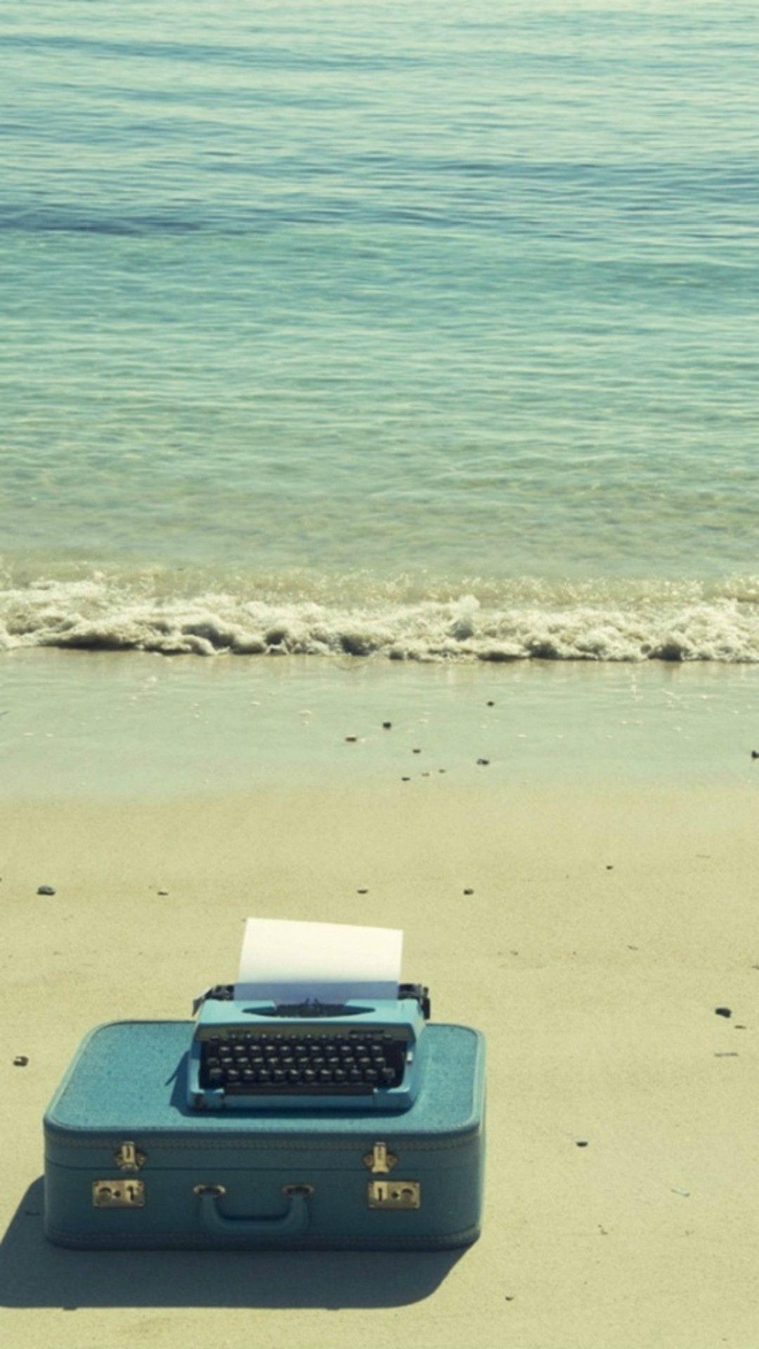 Nature Ocean Sea Beach Suitcase Fax iPhone 6 plus
