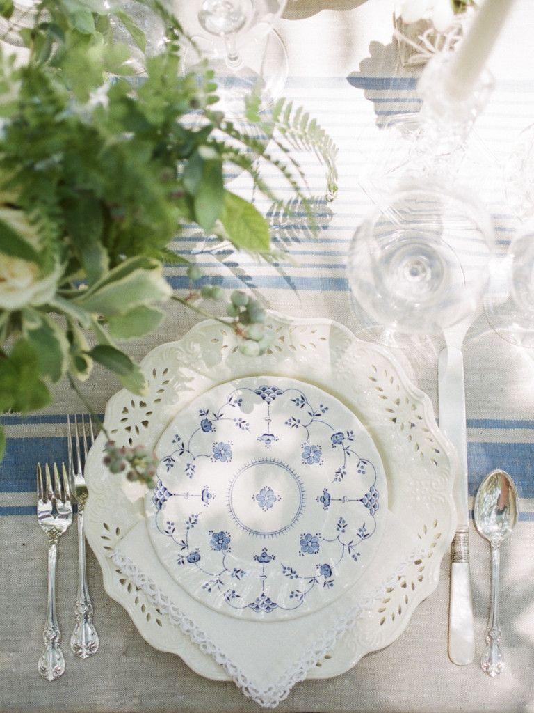Classic blue place setting and linen. Cote Design. Rentals Amazing Event Rentals Linen Me. & Classic blue place setting and linen. Cote Design. Rentals: Amazing ...