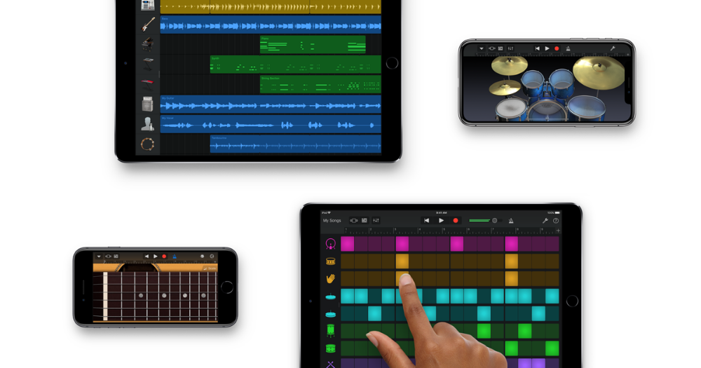 GarageBand for iOS has everything you need to play, record