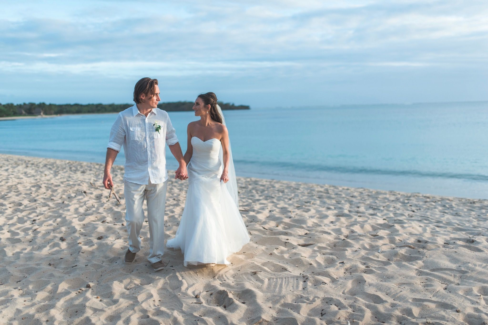 Destination tevutevu tropical beach wedding ceremony took place on