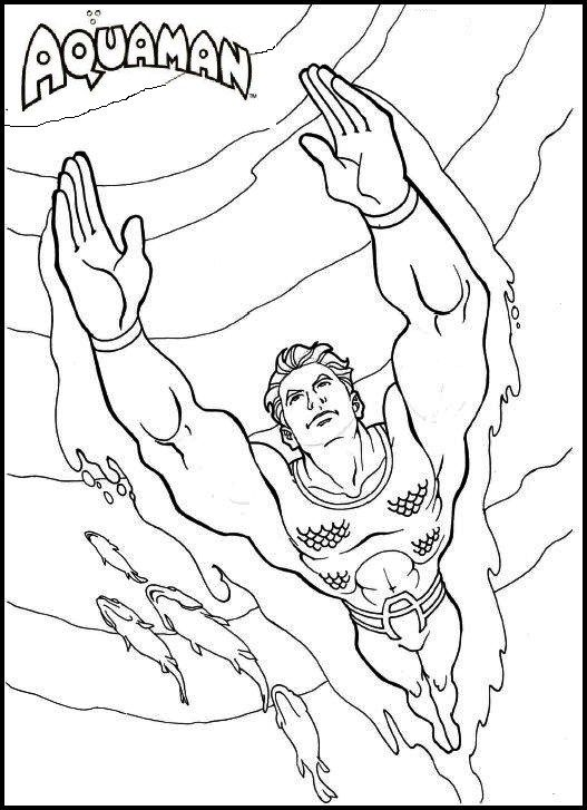aquaman coloring pages printable dc comics coloring pages