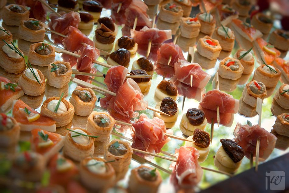 Sarah and steven mixed italian canapes aperitif ideas for Wedding canape ideas