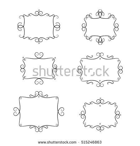 Frames vector set vintage filigree elements wedding invitation frames vector set vintage filigree elements wedding invitation decoration ornamental wedding vintage swirl junglespirit Images