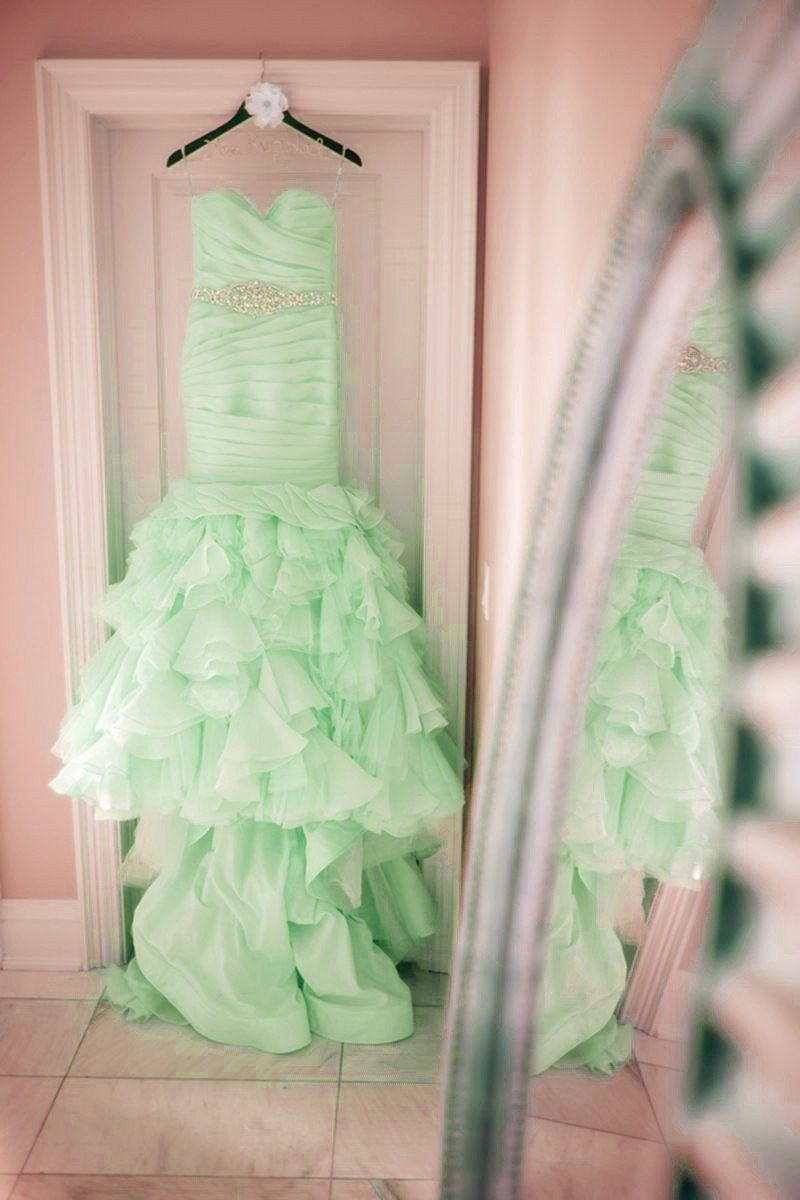Blush pink wedding dressmint green wedding dresseslight blue