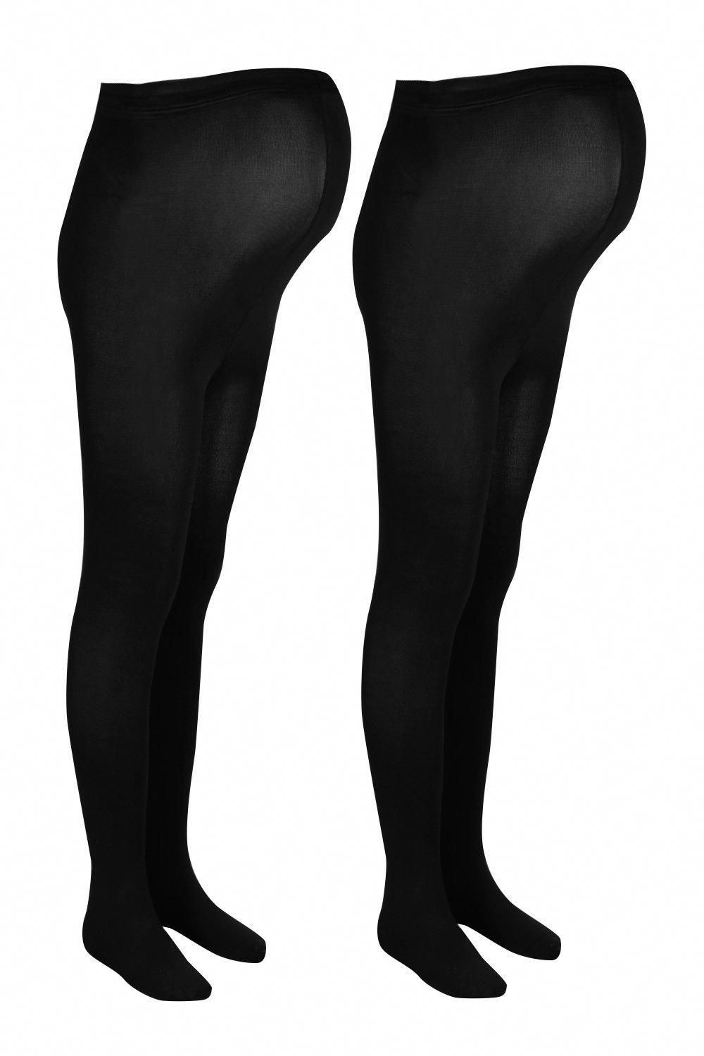 Womens Maternity 2 Pack 120 Denier Tights - black - One Size