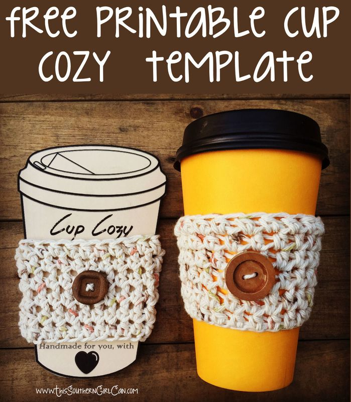 Free printable cup cozy template! … | Pinteres…