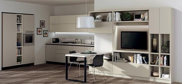 Mansarda bilocale: Scavolini Liberamente, cucina e living | cocinas ...