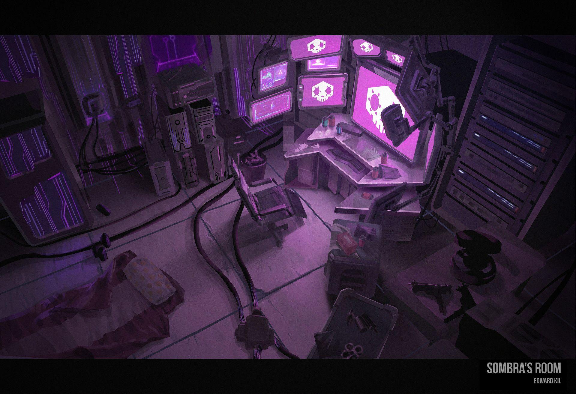 ArtStation Sombra's Room , Edward Kil Sombra, Sombras