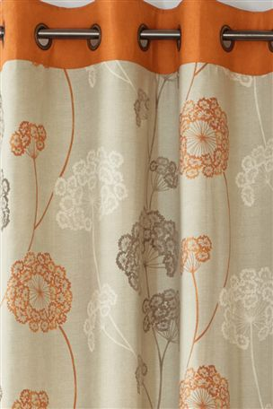 Buy Orange Emily Floral Eyelet Curtains From The Next UK Online Shop