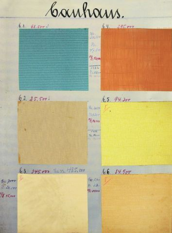 Seite Aus Rasch Muster Originale Bauhaus 1930 31 Vintage Farbpalette Bauhaus Farben Schoner Wohnen Tapeten