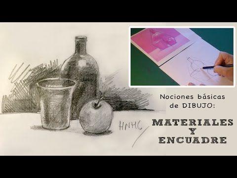Nociones Basicas De Dibujo Materiales Y Encuadre Libros De Arte Produccion Artistica Videos De Dibujos