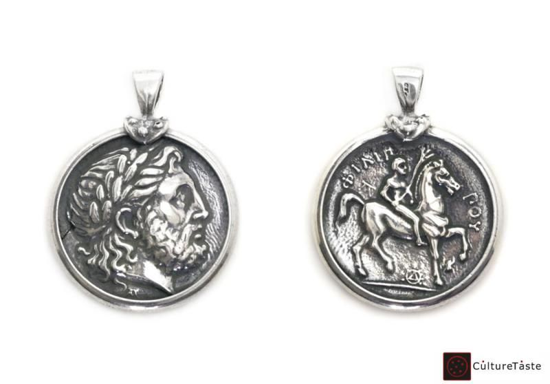 Handmade sterling silver coin pendant inspired by the ancient greek handmade sterling silver coin pendant inspired by the ancient greek silver tetradrachm of macedon king mozeypictures Gallery