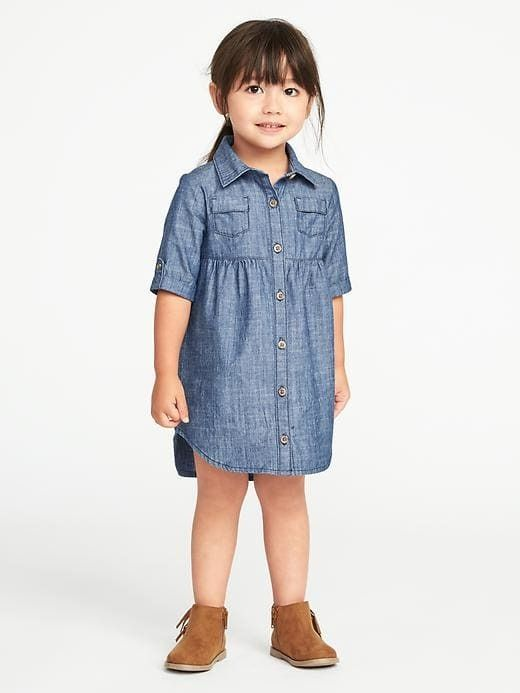3ac4a70d9 $22 Chambray Shirt Dress for Toddler Girls #ad #gift #gifts #giftidea  #giftideas