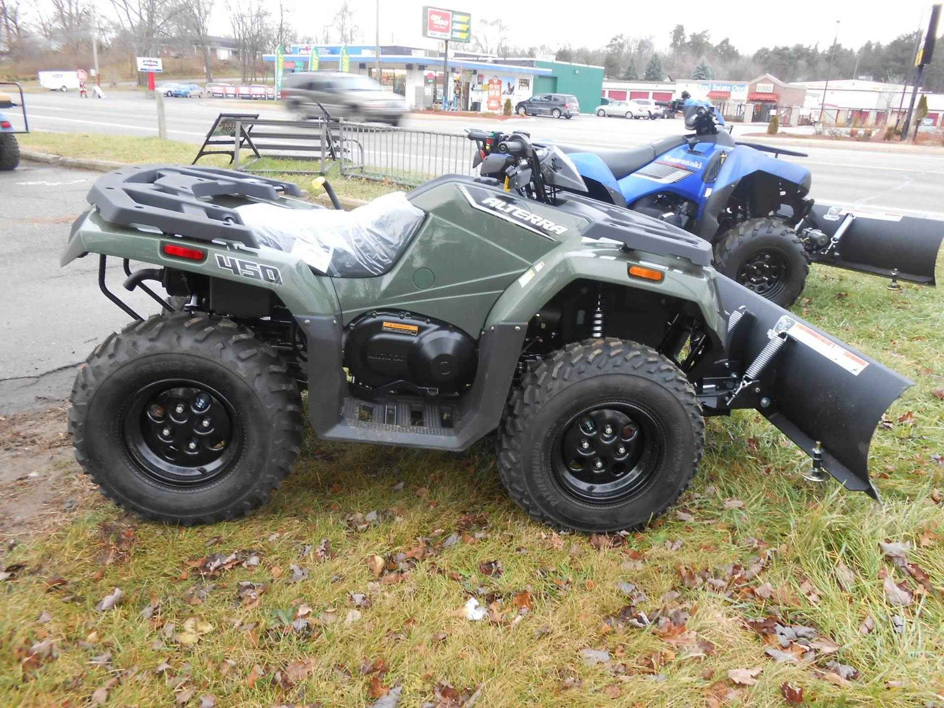 New 2016 Arctic Cat Alterra 450 ATVs For Sale in Michigan. Showroom Model !  PLOW