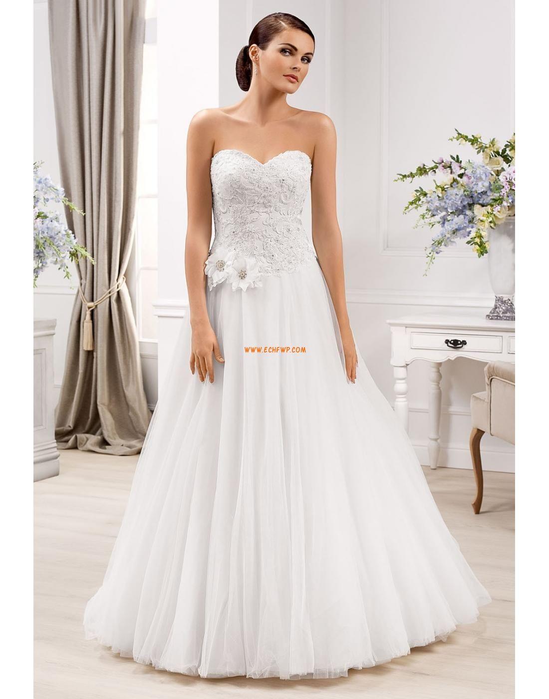 Golvlång Hjärtformad Ärmlös Bröllopsklänningar 2014 Šaty Na Country Svatbu bbfc116962