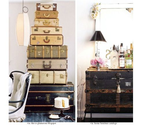 Charming Vintage Suitcase! I Looooooove These! Ideas