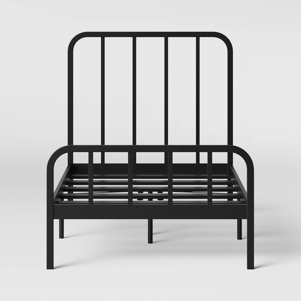 Best Twin Farmhouse Metal Kids Bed Kid Beds Black Bedding 640 x 480