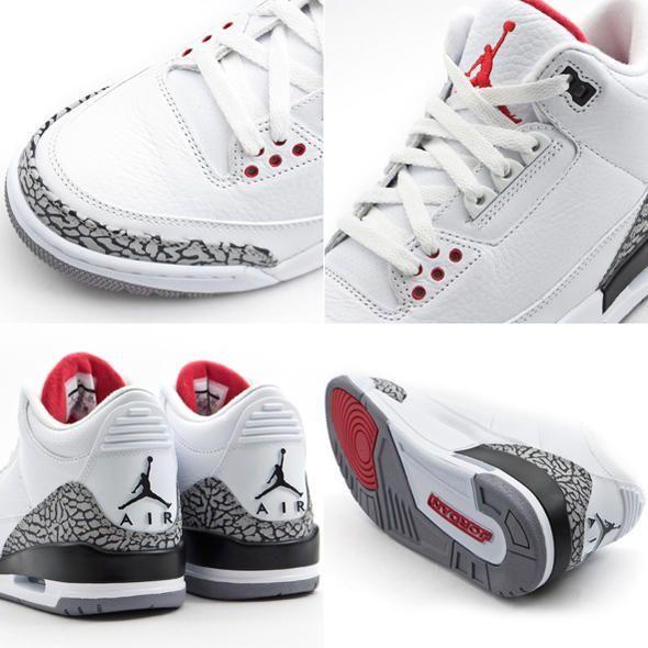 huge selection of f9607 a8e68 Air Jordan Retro 3s - White Cements