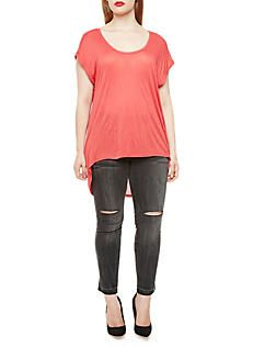 882d2ea4239 Plus Size High Low Top with Dolman Sleeves