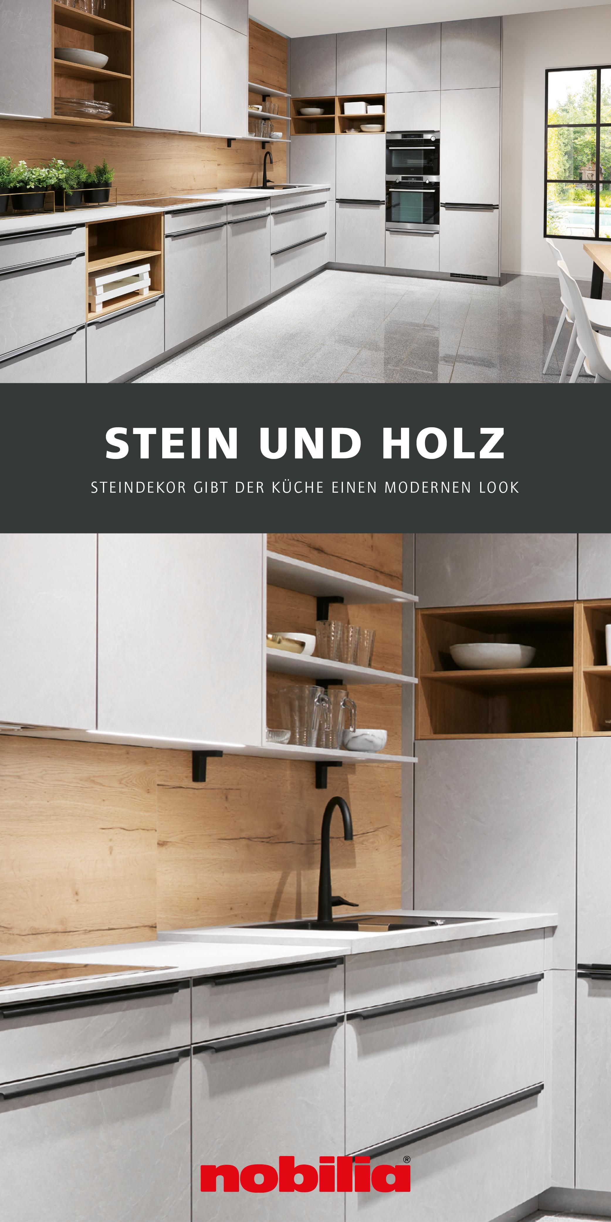 Küche in Steindekor von nobilia   Nobilia küchen, Moderne küche ...