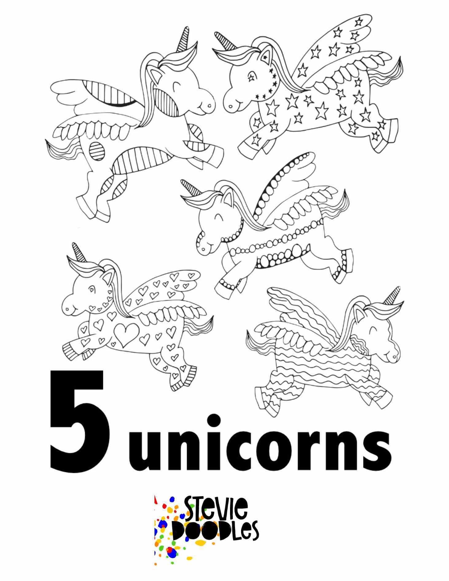 Unicorn Numbers 1 10 Free Printable Pages For Preschool Kindergarten Stevie D Kindergarten Coloring Pages Preschool Coloring Pages Free Kids Coloring Pages