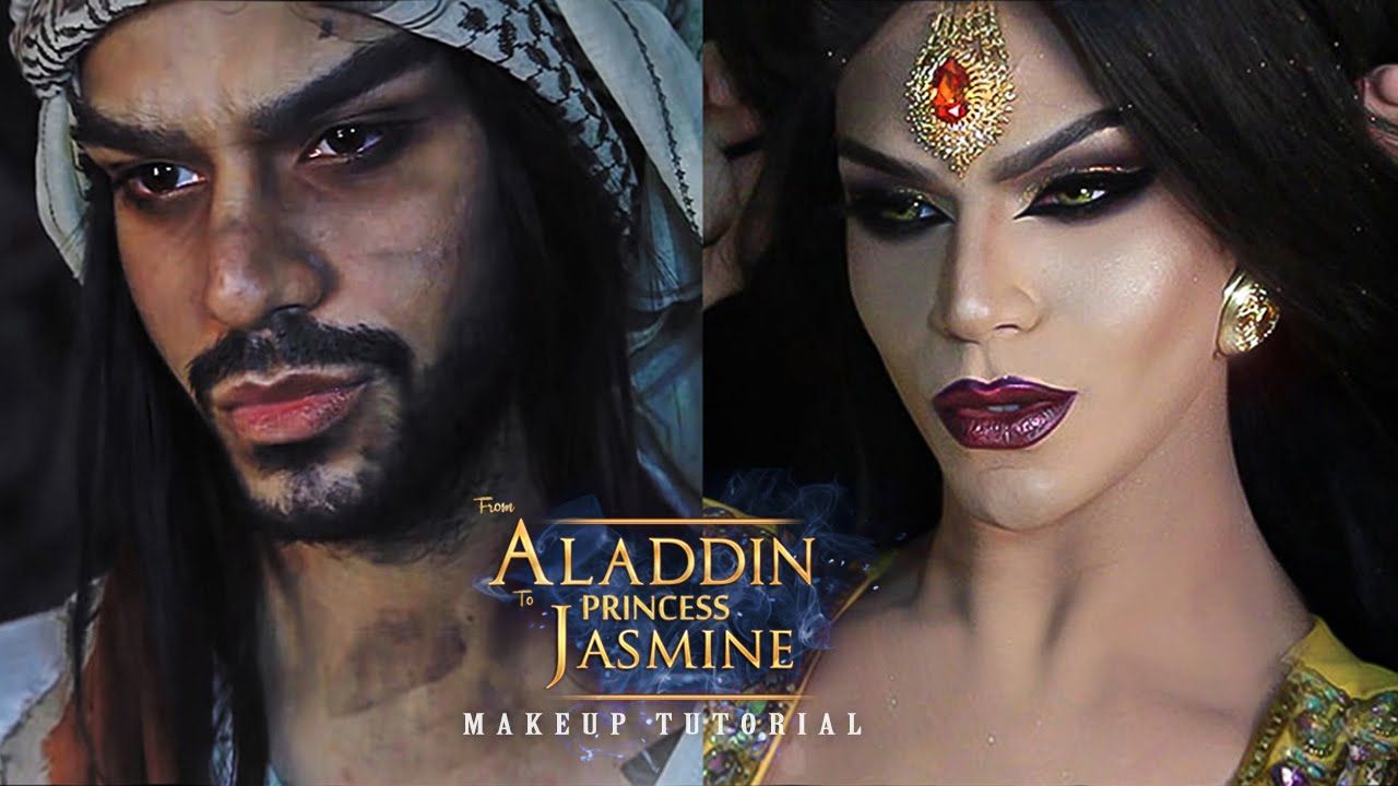 Aladdin to princess jasmine makeup tutorial arabia felix aladdin to princess jasmine makeup tutorial arabia felix baditri Images
