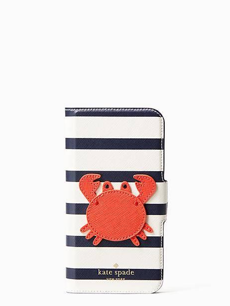 on sale e22ff 0e5bc Kate Spade Crab Applique Folio Iphone Cases X Case | Products ...