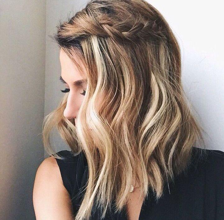 Braided Bangs And Balayage Hair Styles Short Hair Styles Easy Short Hair Styles