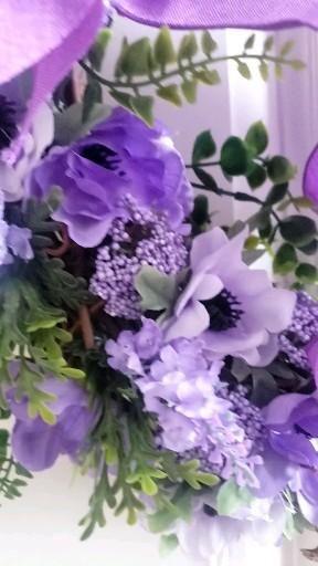 Beautiful purple summer floral wreath