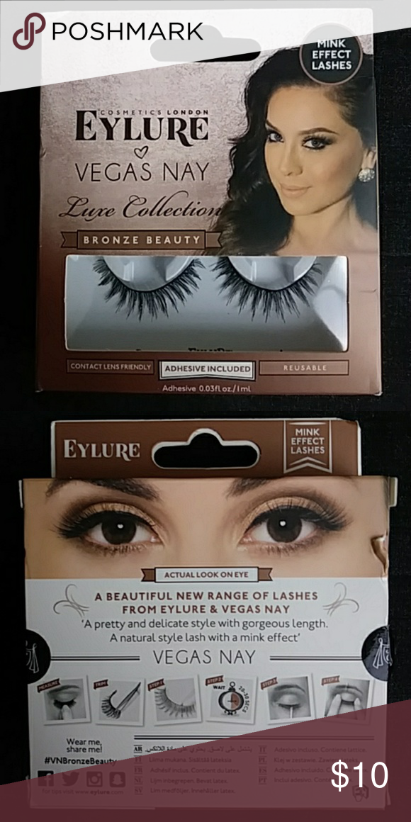 0b586e98bae Eylure Luxe Collection Mink Effect Lashes NIB COSMETICS LONDON Eylure Vegas  Nay LUXE COLLECTION Bronze Beauty