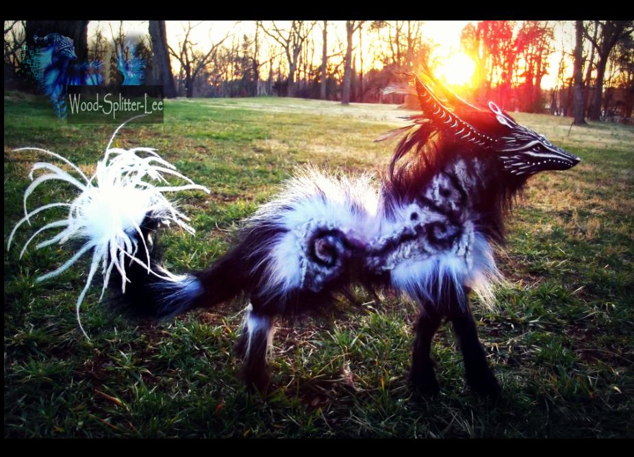 Sold Poseable Fantasy Dream Walker Wolf By Wood Splitter Lee