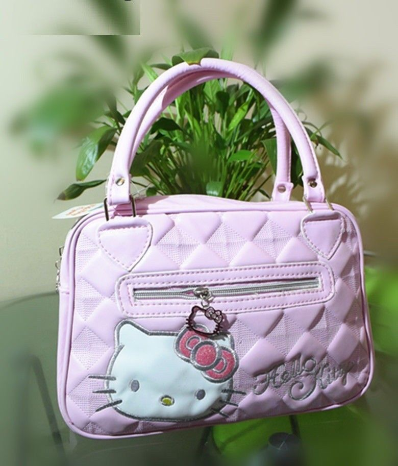 New Hello Kitty Bag with Shoulder Strap Purse Women Girl Gift 2018 White  Pink  Unbranded  Backpack d5f2794f31eae
