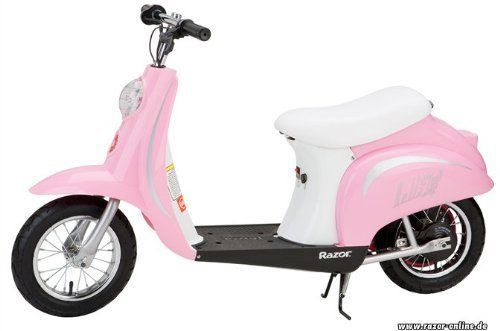 New Pink Electric Motorized Girls Kids Scooter Motorcycle Vespa