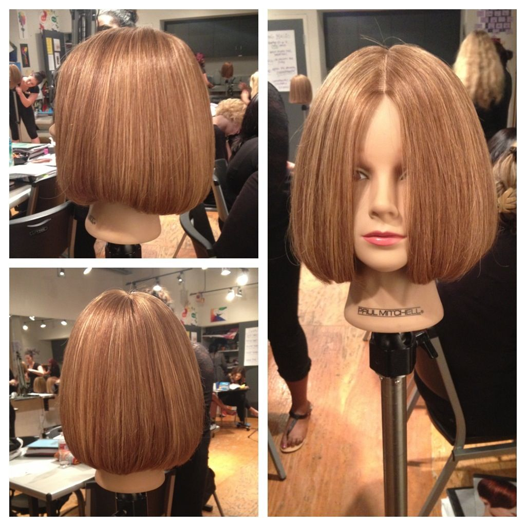 Short Round One Length Paulmitchell Hair Haircut Shorthair