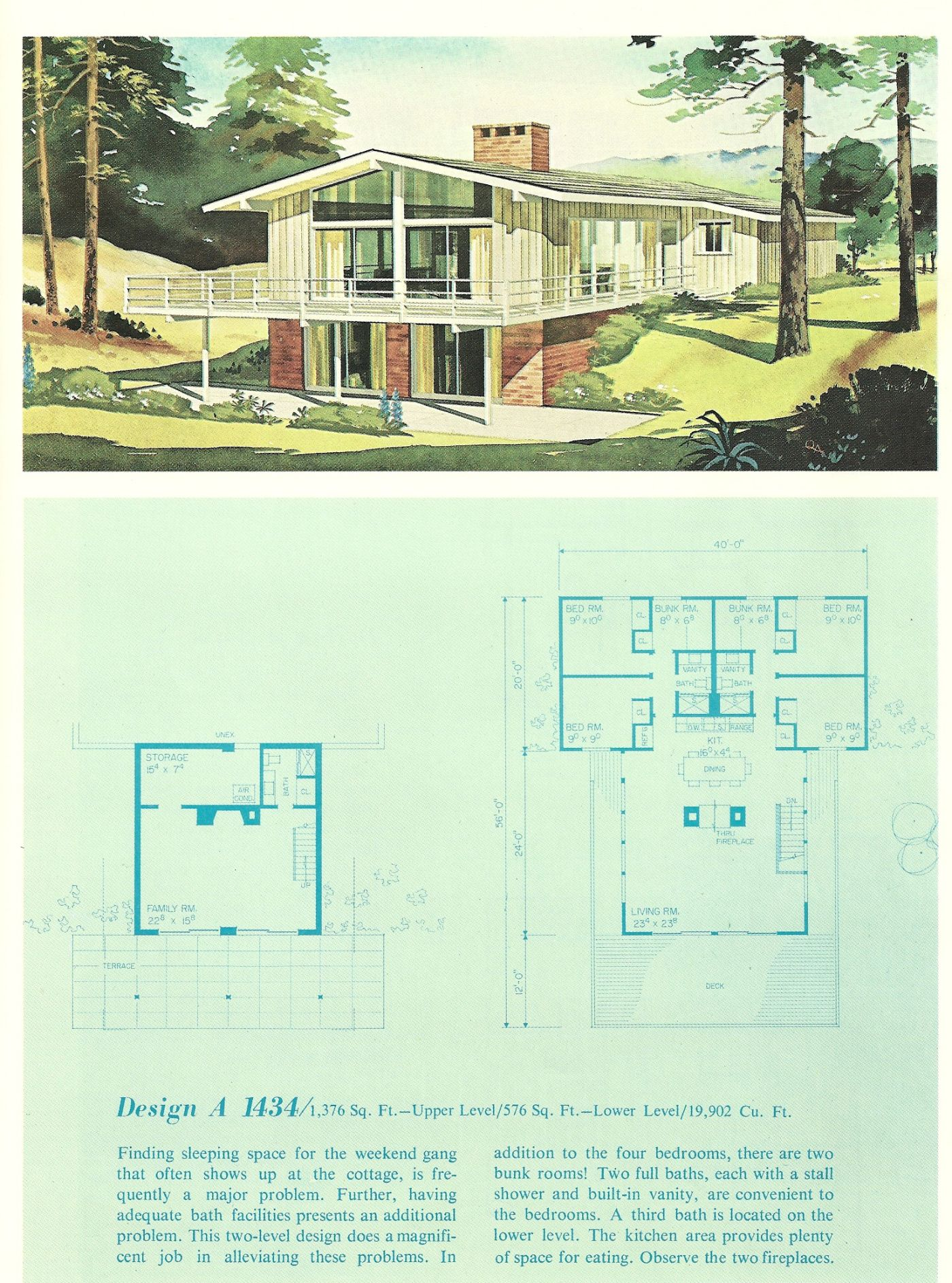 Vintage Vacation House Plans 1960s Vacation Homes Vacation House Plans Vintage House Plans Vintage House