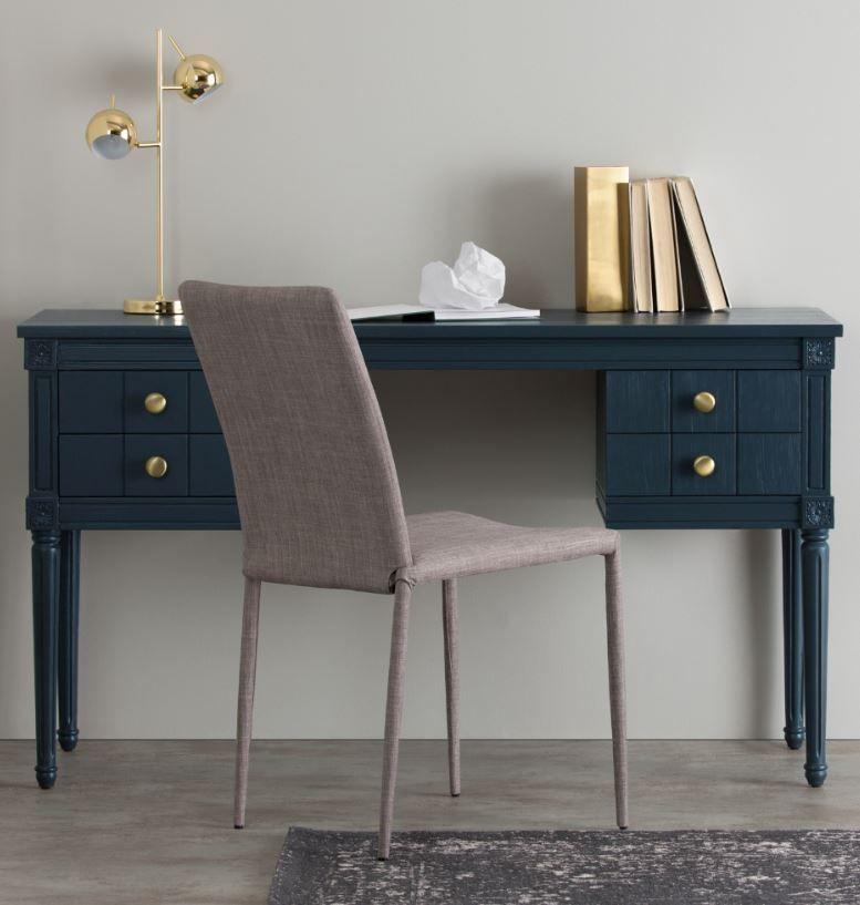 Bourbon Vintage Desk, Dark Blue In 2020